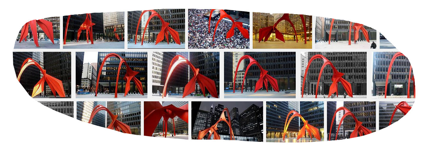 Calder Flamingo Federal Plaza Chicago, c. 1974