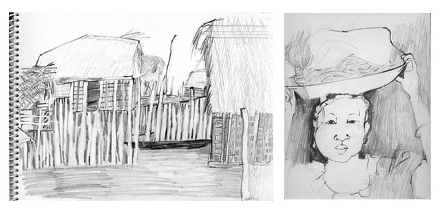 Nell Painter, Ghana drawings 1965