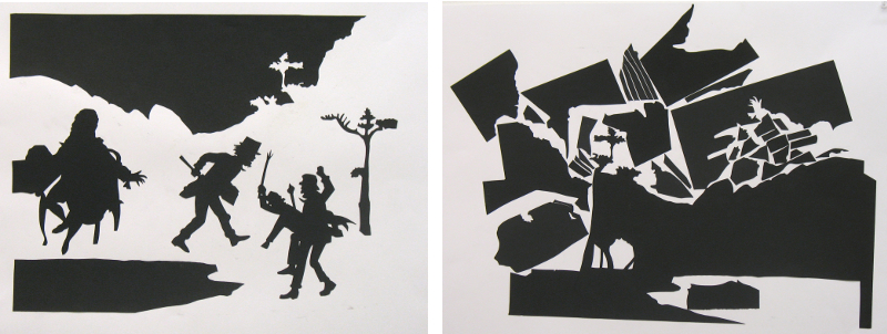 Silhouette, Positive (left) Negative- Abstract (right), 2006